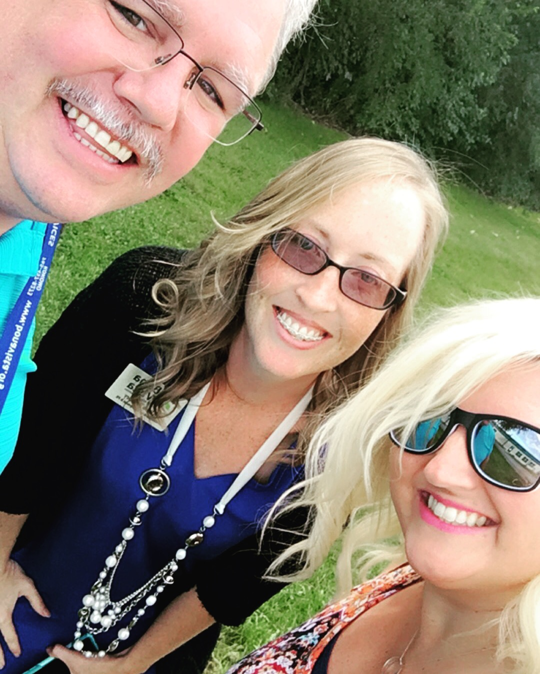 That's me... in the middle... with the rest of my amazing Dvelopment peeps -- Troy Bowers and Brittnee Smith.