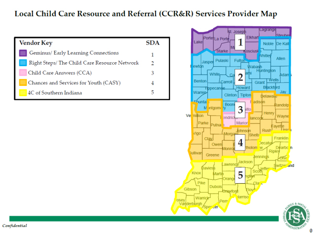 Local CCR&R Services Provider Map
