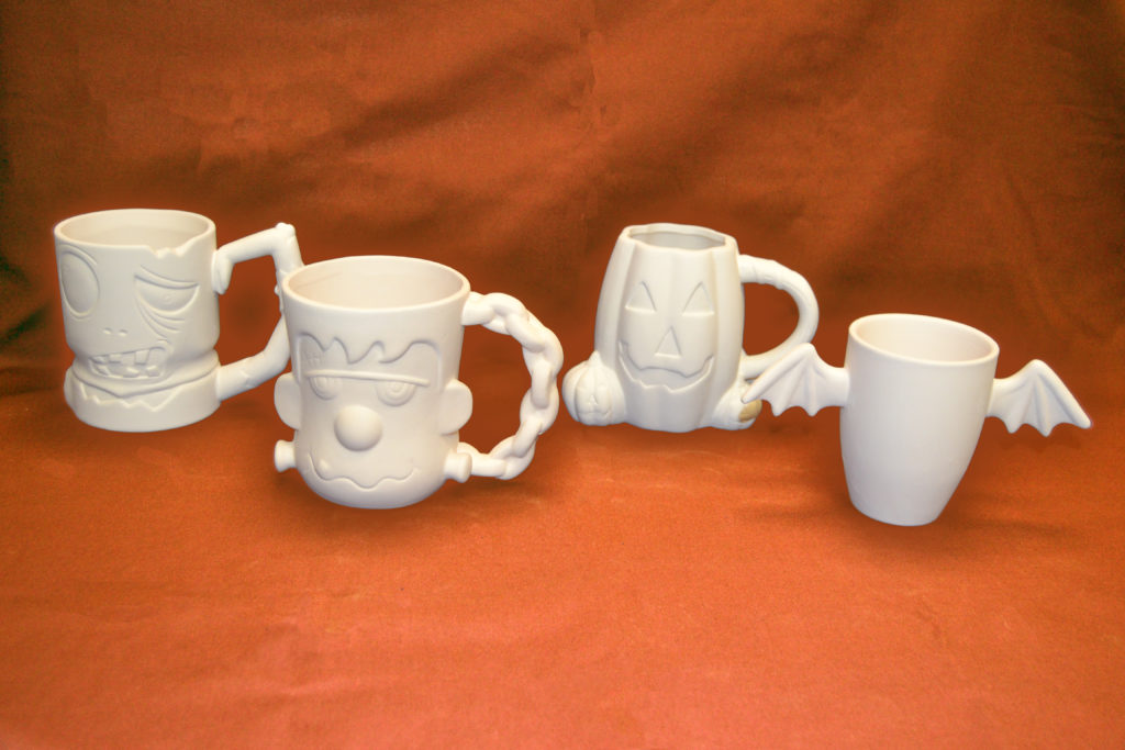 Pick a Halloween mug to paint, hosted by Bona Vista Programs!