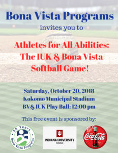 Atheles for All Abilities, IUK and Bona Vista Softball Game!