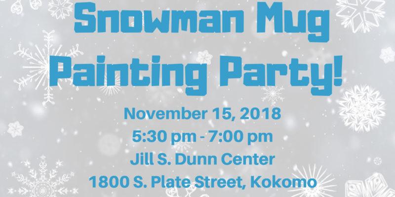 Snowman Mug Painting Party!