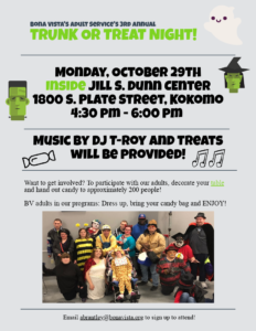 Trunk or Treat for Bona Vista Adult Services @ Jill S. Dunn Center