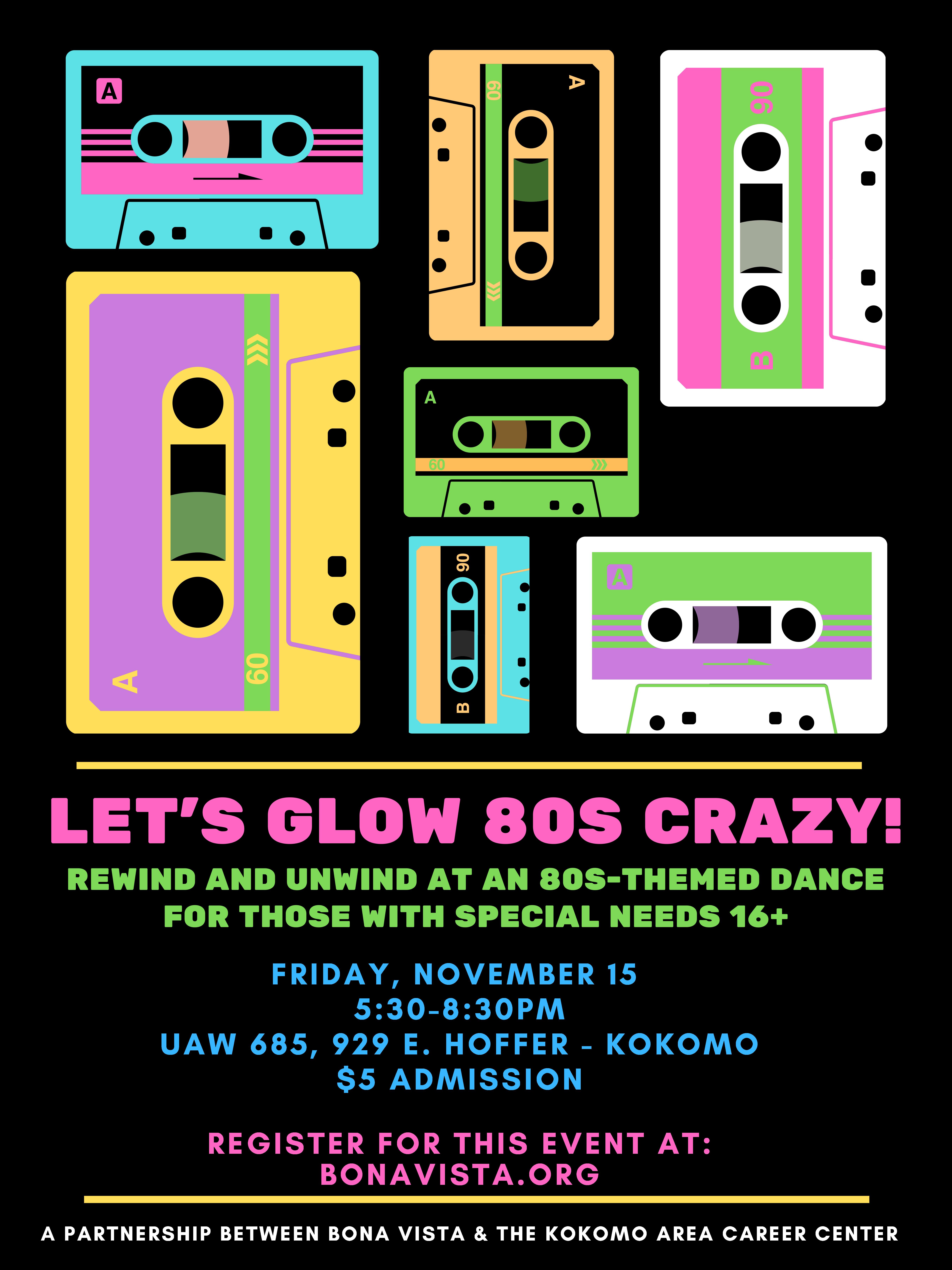 Let's glow 80's crazy!