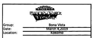 Hacienda Give Back Day for Bona Vista! @ Hacienda Mexican Restaurant