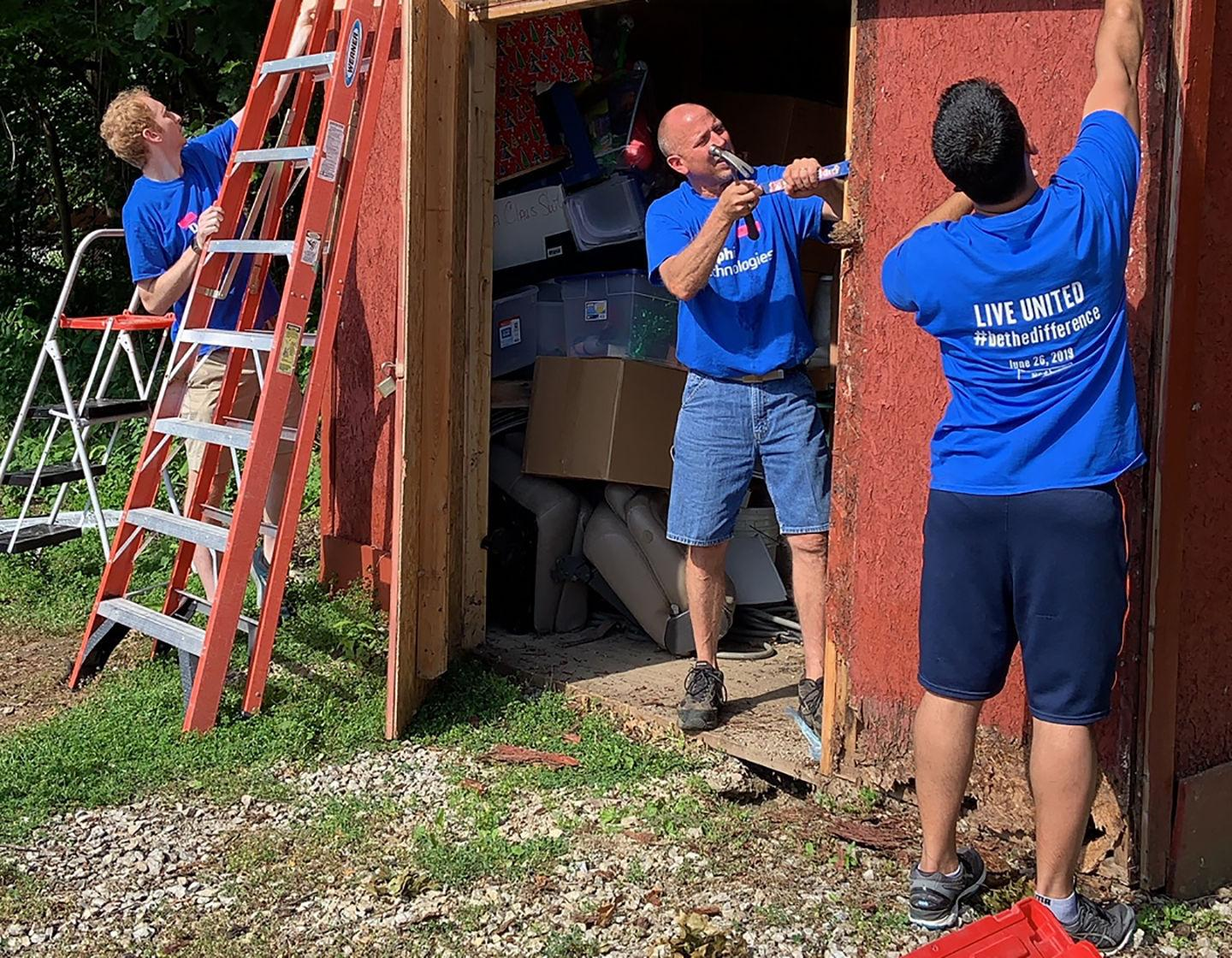 Delphi employees help spruce up nonprofits