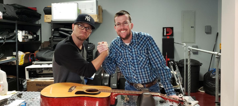 Guitar handshake