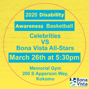 2020 Disability Awareness Basketball Game @ Kokomo Memorial Gym