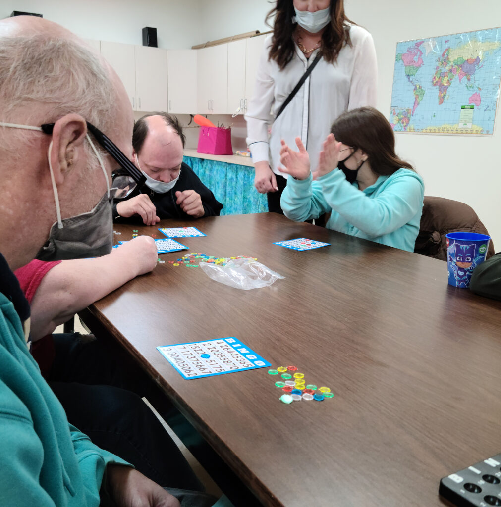 Adult Day Services bingo game