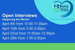 Bona Vista Open Interviews @ Bona Vista's Art Gallery at the Crossing