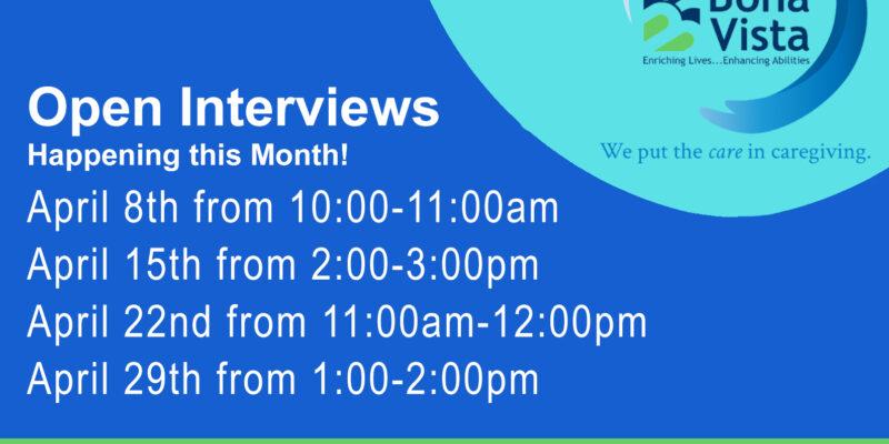 Open Interviews April 2021