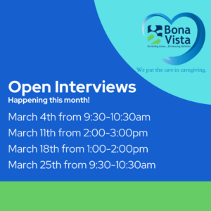 Bona Vista Open Interviews