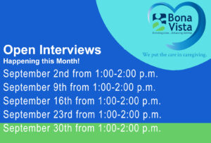 Bona Vista Open Interviews @ Bona Vista's Jill S. Dunn Center