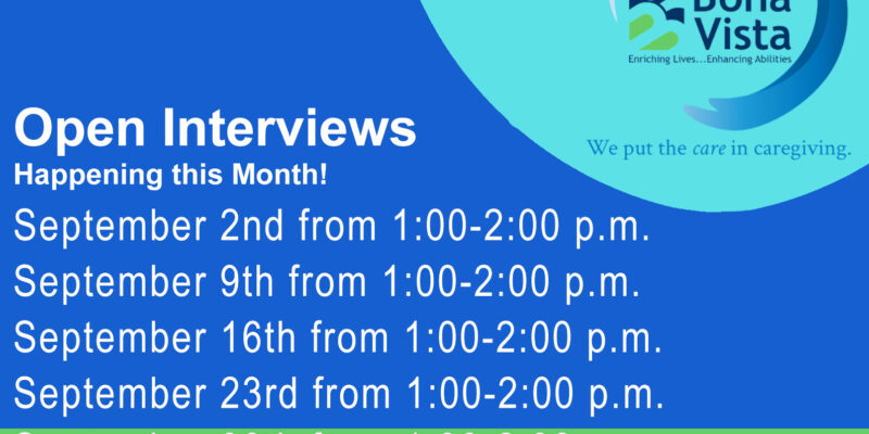 September 2021 Open Interviews