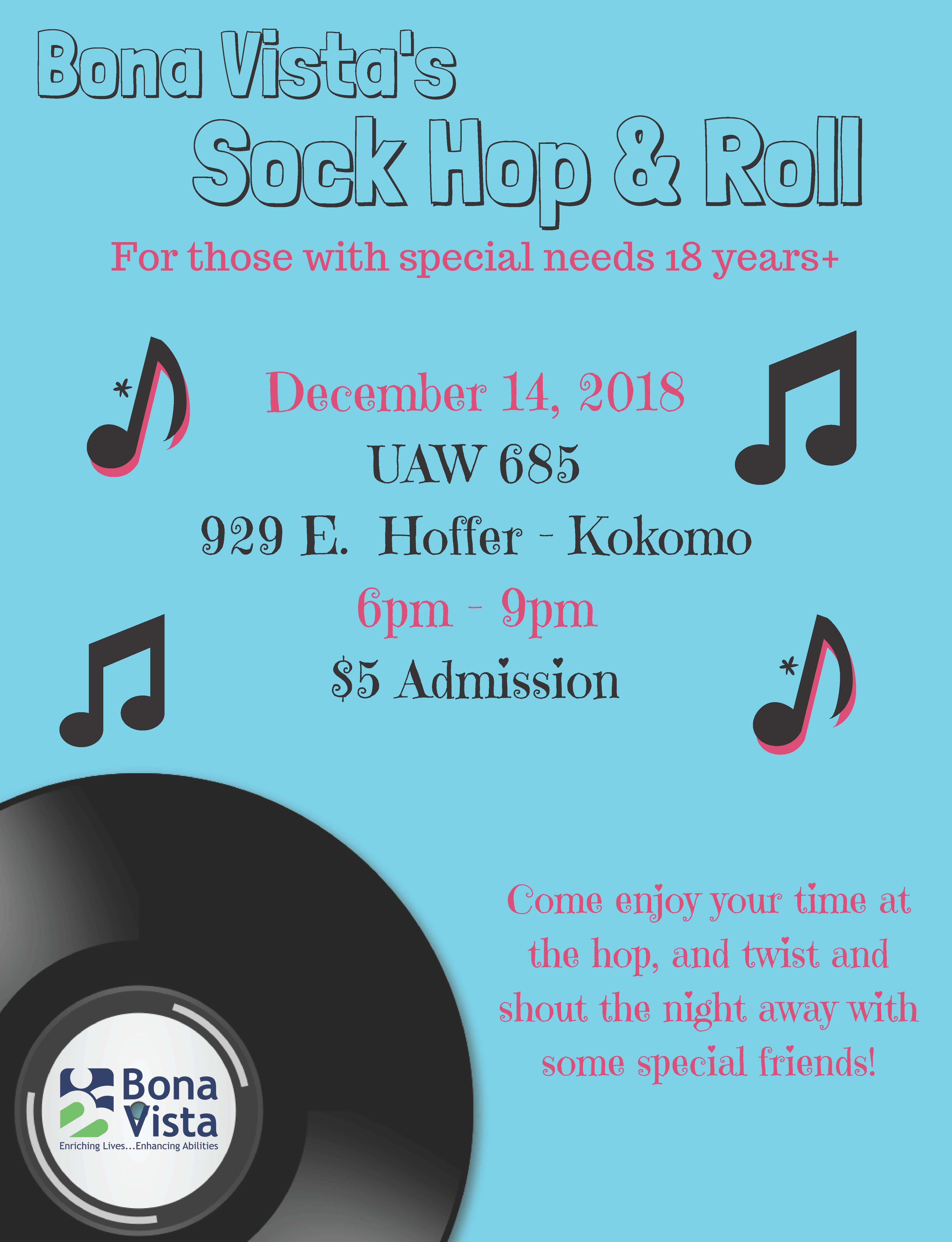 Bona Vista puts on Sock Hop & Roll Dec. 14