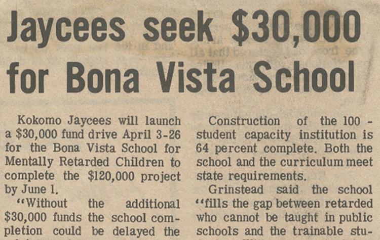 Like it did decades ago, Bona Vista still needs community support!