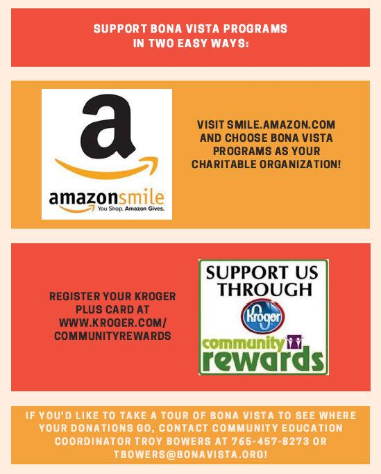 Online shoppers can support Bona Vista, too!