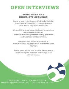 Open Interviews at Bona Vista Programs @ Bona Vista Programs