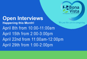 Bona Vista Open Interviews @ Bona Vista's Art Gallery at the Crossing