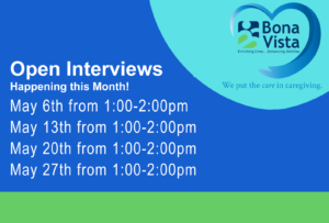 Bona Vista Open Interviews @ Bona Vista's Jill S. Dunn Center