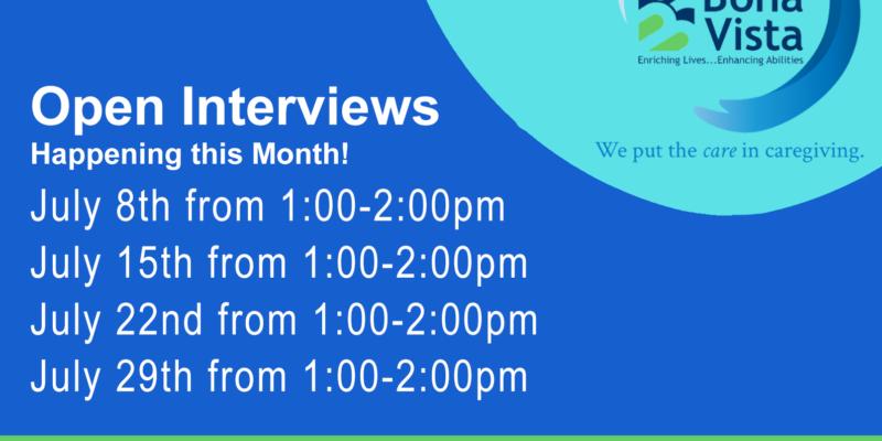 Open Interviews July 2021